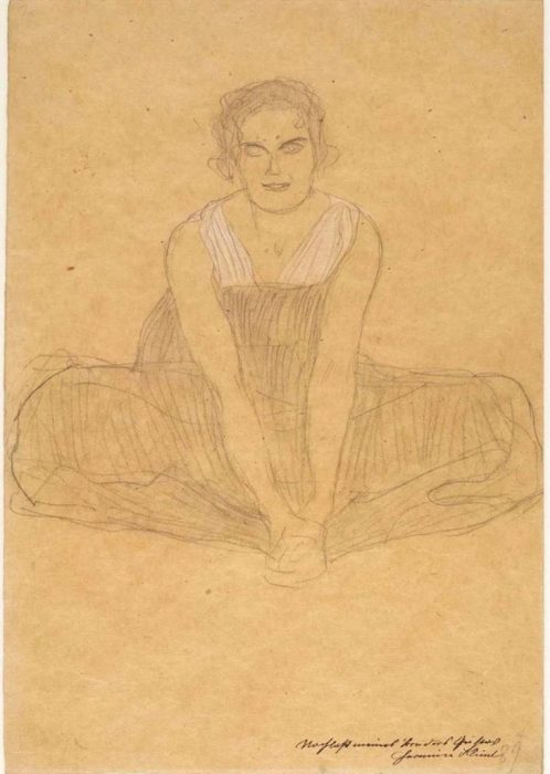 Gustav Klimt's Seated Woman in a Pleated Dress