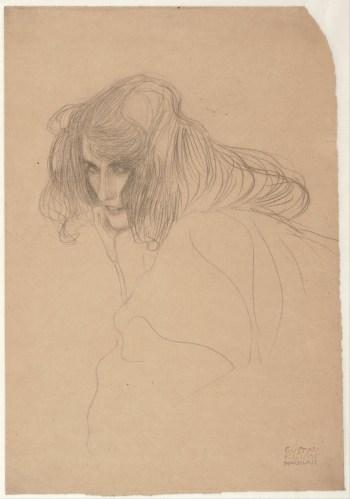 Gustav Klimt, Portrait of a Woman in Three-Quarter Profile, 1901