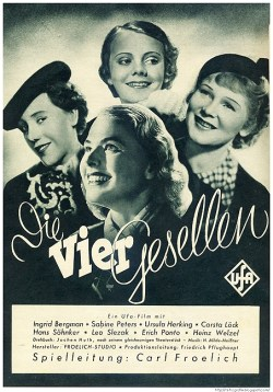 Ingrid Bergman (front) in the movie poster for The Four Companions