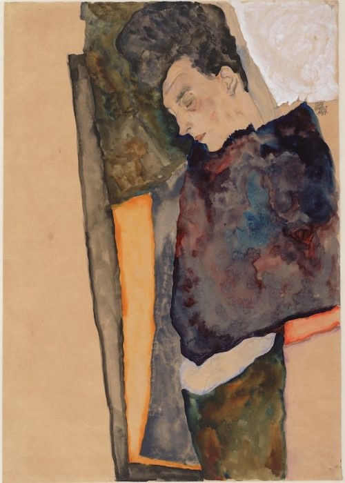 Egon Schiele: The Artist's Mother, Sleeping, 1911