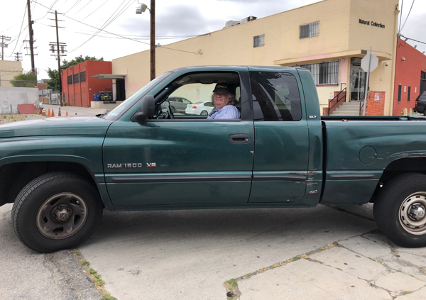 Jonathan Gold in his Dodge