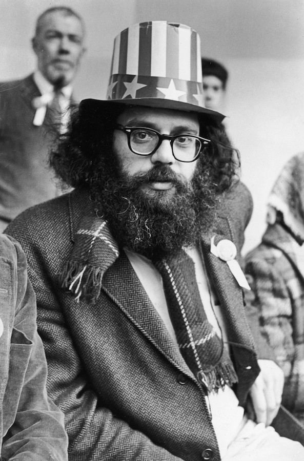 Fred W. McDarrah: Allen Ginsberg on Central Park Bandstand, 5th Avenue Peace Demonstration to Stop the War in Vietnam, March 26, 1966