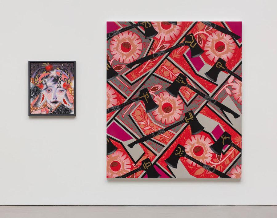 Lari Pittman Portraits of Textiles & Portraits of Humans