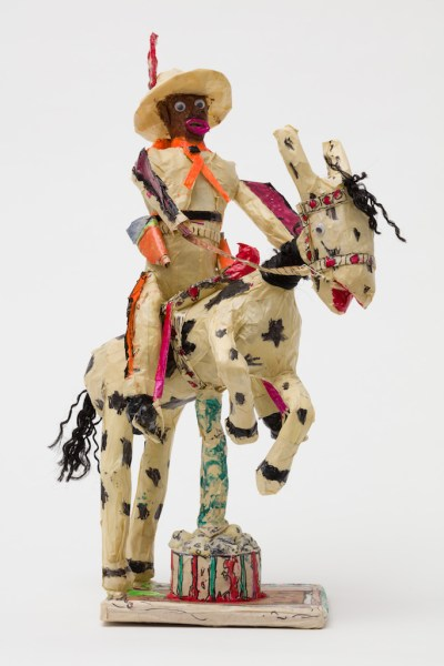 Willard Hill, Untitled (Cowboy Orange Fringe Riding Horse)