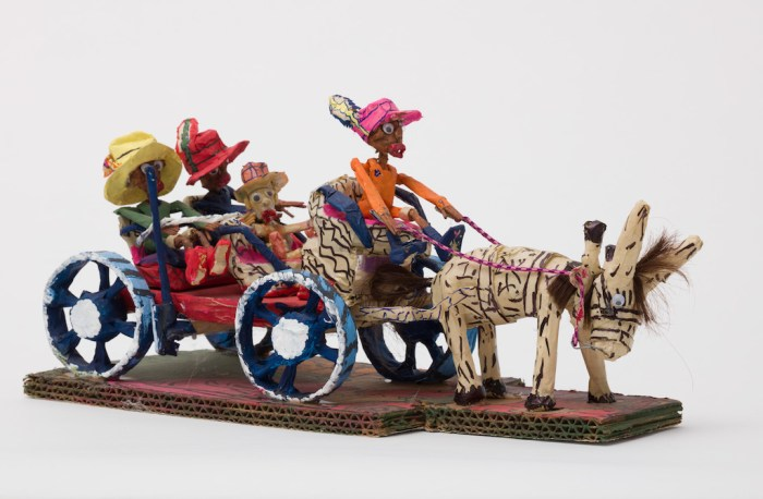 Willard Hill, Untitled (WH237 four figures in horse drawn carriage)