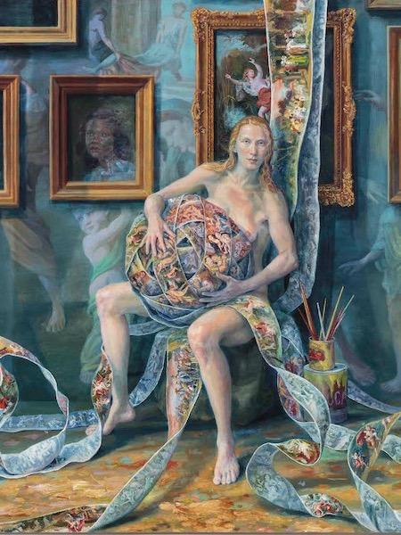 Julie Heffernan: Self-Portrait with Lock