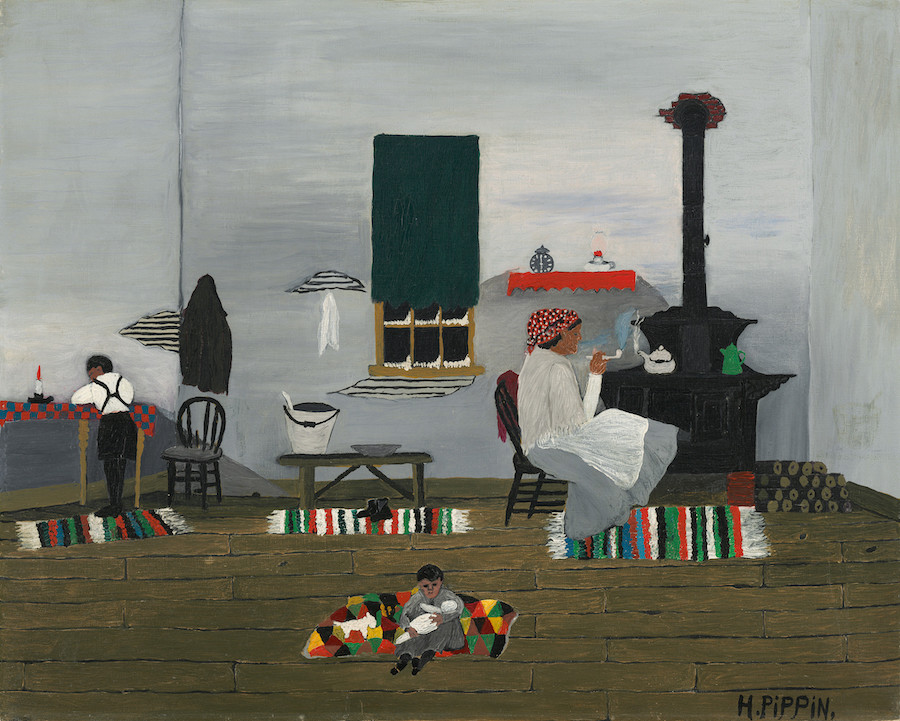 Horace Pippin, Interior, 1944,