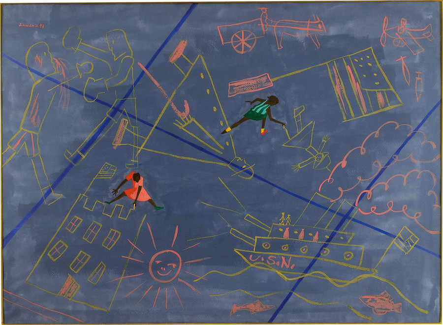 Jacob Lawrence, Sidewalk Drawings, 1943