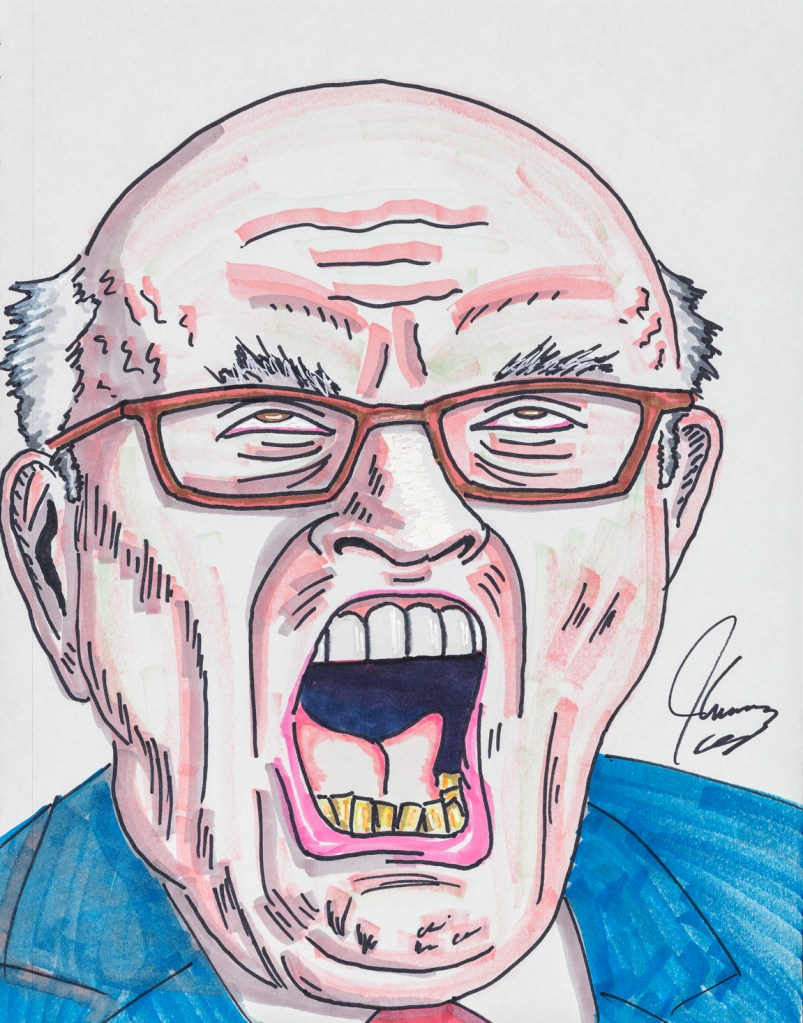 Jim Carrey, Giuliani Doesn't Bleach the Bottom Teeth