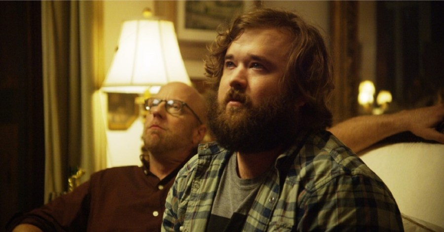Chris Elliot and Haley Joel Osment in Clara's Ghost (2018)