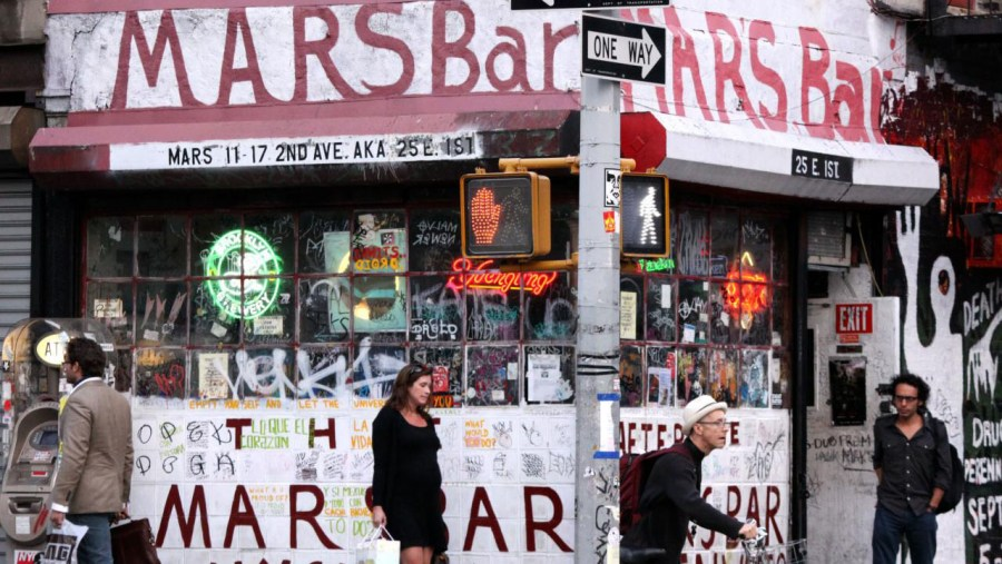 The Mars Bar, East Village. Gone. At Riot Material