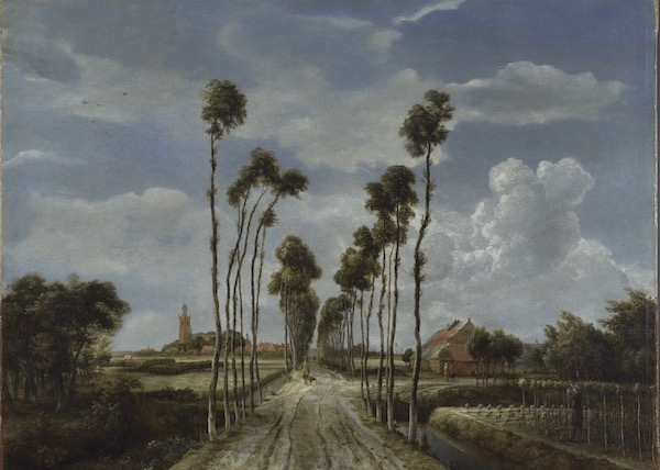 Meindert Hobbema's The Avenue at Middelharnis. A review of Van Gogh and Britain, at Tate London, is at Riot Material Magazine.