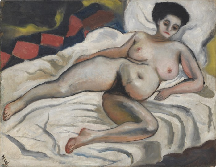 Nadya Nude, 1933. Alice Neel: Freedom, reviewed at Riot Material Magazine.