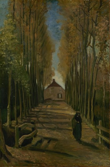 Van Gogh's Avenue of Poplars in Autumn. A review of Van Gogh and Britain, at Tate London, is at Riot Material Magazine.
