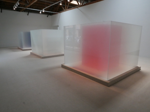 Larry Bell. An interview with Larry Bell is at Riot Material, LA's premier art magazine