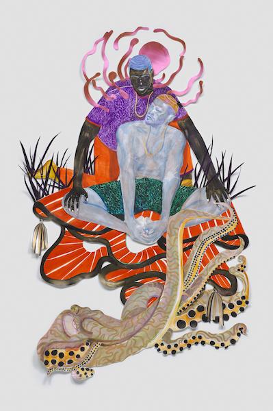 Artist Khari Johnson-Ricks in Punch, at Jeffrey Deitch, Los Angeles. Reviewed at Riot Material magazine.