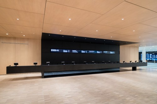 The new ticket counter at MoMA