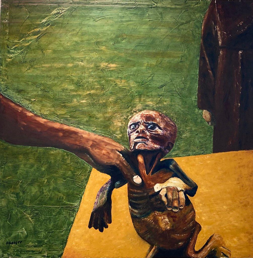 """C von Hassett, """"Fury."""" C von's solo exhibition at Mash Gallery, DTLA, is reviewed at Riot Matrial magazine, LA's premier art magazine."""