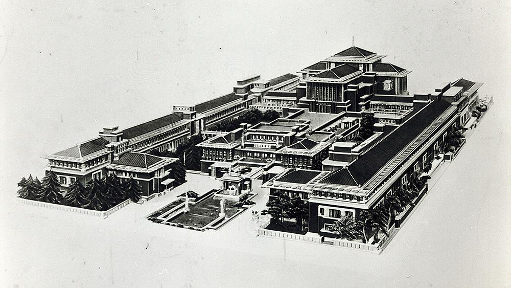 Frank Lloyd Wright's Imperial Hotel, Tokyo Japan