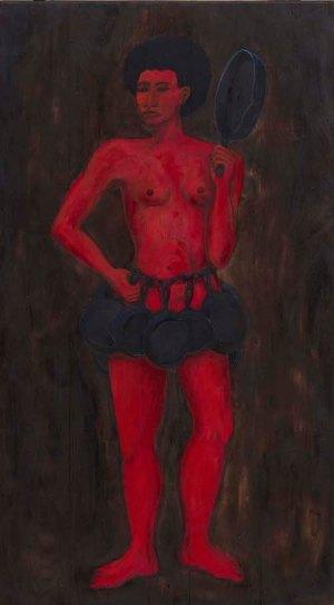 Alison Saar Kitchen Amazon (painting), 2020