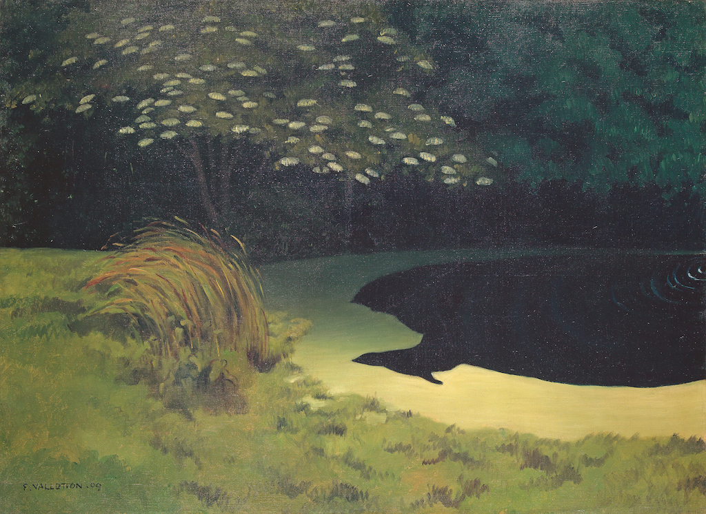 """Félix Vallotton, La mare (Honfleur); 1909. The Met's """"Painter of Disquiet is reviewed at Riot Material magazine."""