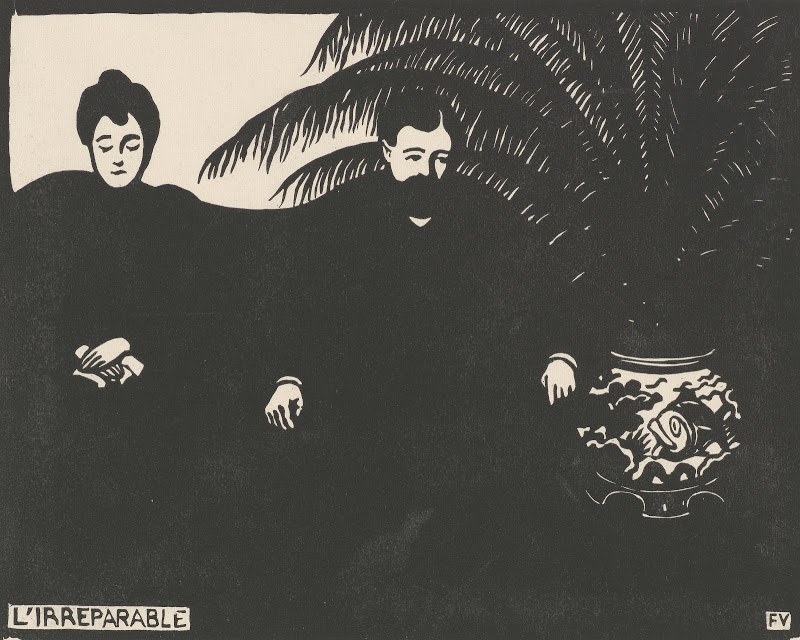 """Félix Vallotton, The Irreparable (L'irréparable). The Met's """"Painter of Disquiet is reviewed at Riot Material magazine."""