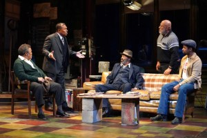 Ray Anthony Thomas, Steven Anthony Jones, Anthony Chisholm, Keith Randolph Smith and Amari Cheatom in August Wilson's Jitney