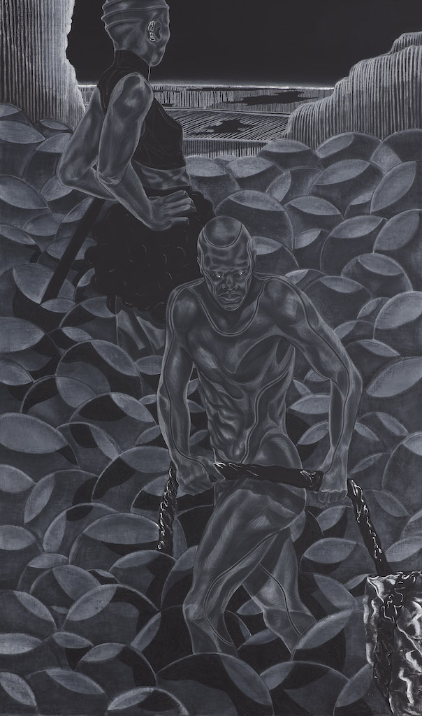 Toyin Ojih Odutola's wonderful exhibition, A Countervailing Theory, at Barbican Centre, London, is reviewed at Riot Material Magazine