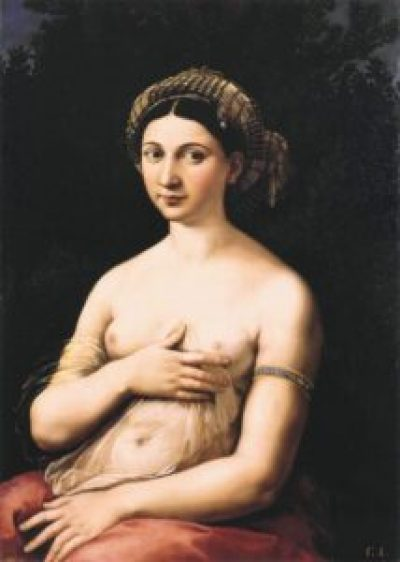 Raphael's LaFornarina. A review of the Raphael exhibition Raffaello 1520–1483, in Rome, Italy, is at Riot Material