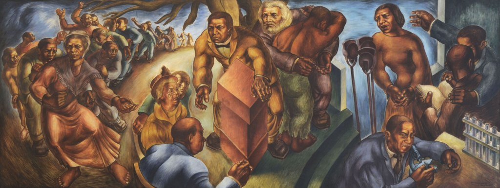 Charles White Progress of the American Negro Five Great American Negroes, 1939–1940