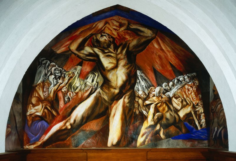 José Clemente Orozco reproduction of Prometheus, 1930