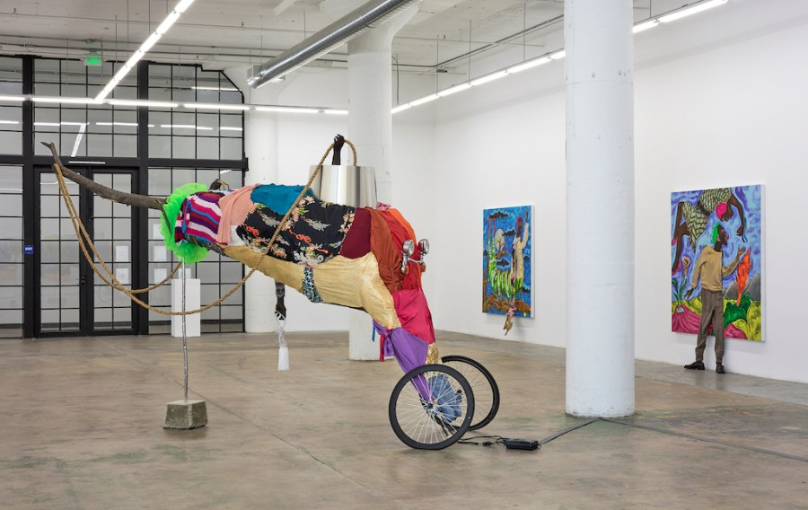 Installation view of Beast of No Nation, at Nicodim Gallery.
