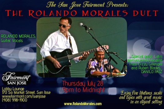 Rolando Morales Duo at Fairmont July 28, 2016