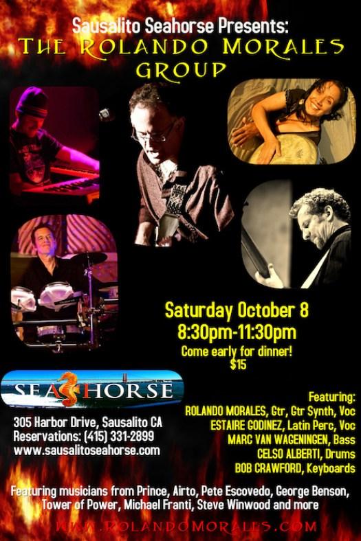Rolando Morales Group performs at Seahorse in Sausalito October 8
