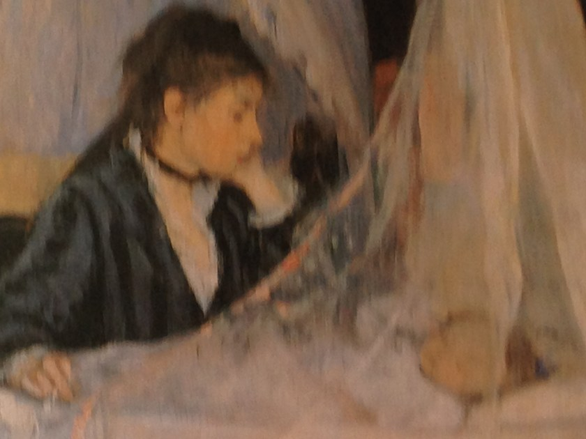 Berthe Morisot, The Cradle as exhibited at the Musée d'Orsay in Paris.