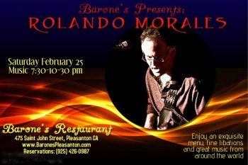 Rolando Morales performing at Barone's Feb 25