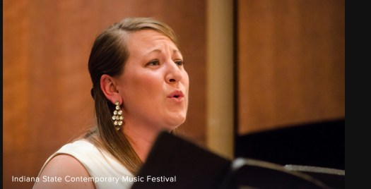 Clara Osokowski at the Indiana State Contemporary Music Festival