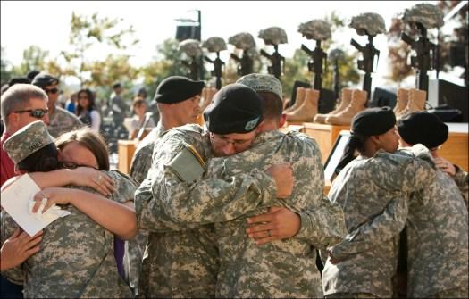 Veterans returning home.