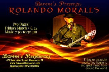 Rolando Morales at Barone's March 24, 2017