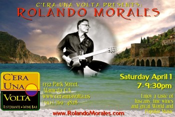 Rolando Morales performs at C'era Una Volta on April 1, 2017