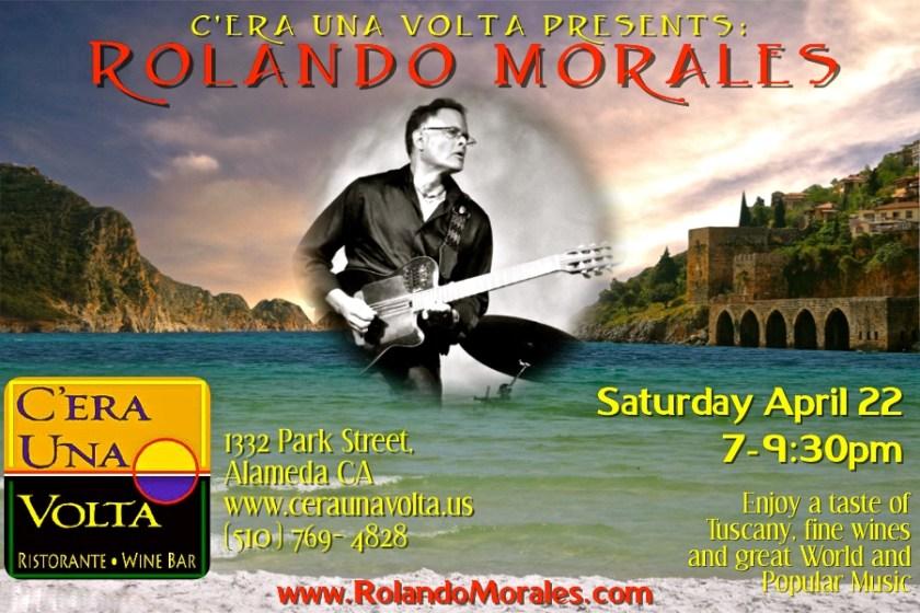 Rolando Morales performs at Cera Una Volta April 22 2017