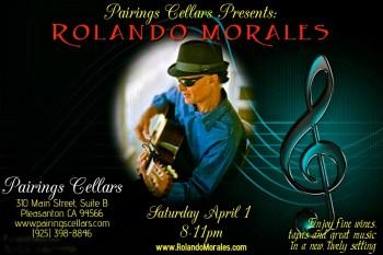 Rolando Morales performs at Pairings Cellars on April 1, 2017
