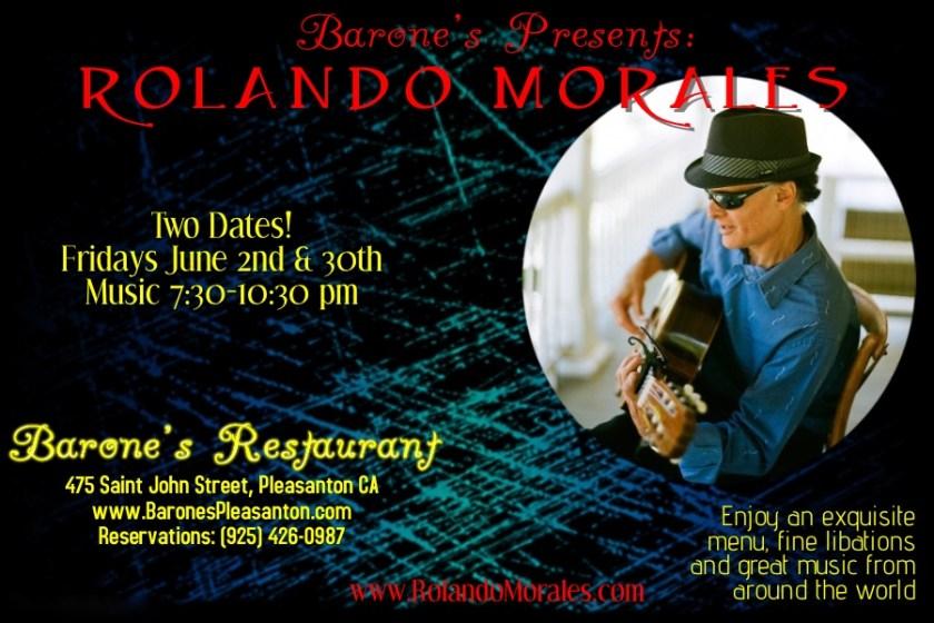 Rolando Morales performs at Barone's, June 30th