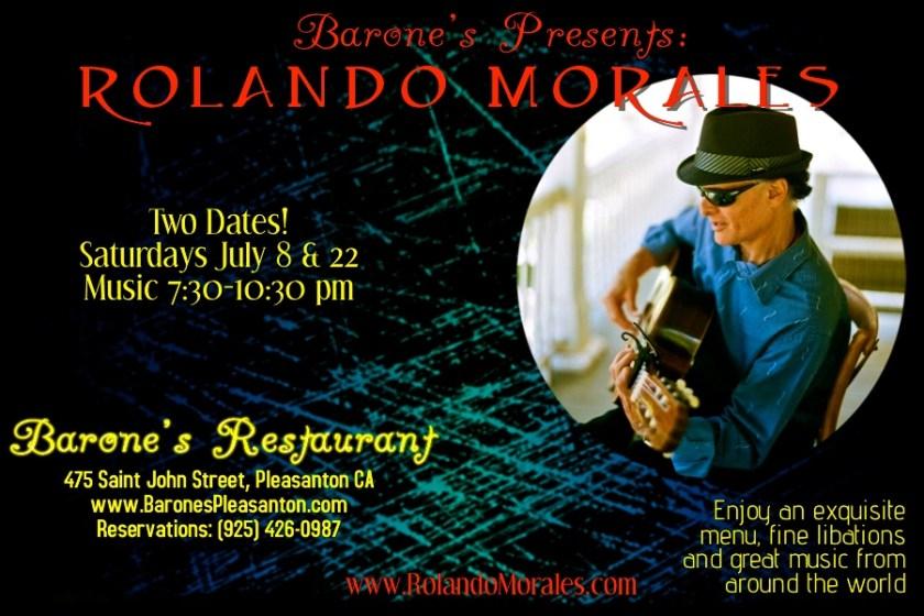 Rolando Morales performs at Barone's July 22