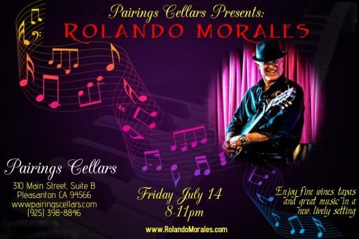 Rolando Morales performs at Pairings Cellars on July 14
