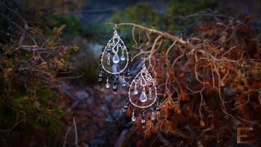 Light reflects in these gorgeous magical drops of vintage style earrings and allows your loved one sparkle and shine up every room.   Designed and Handcrafted by Niina Karlsson
