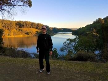 Rolando Morales enjoying lake