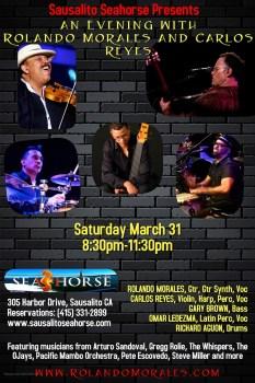 Full Rolando Morales Band at Seahorse in Sausalito, March 31, 2018