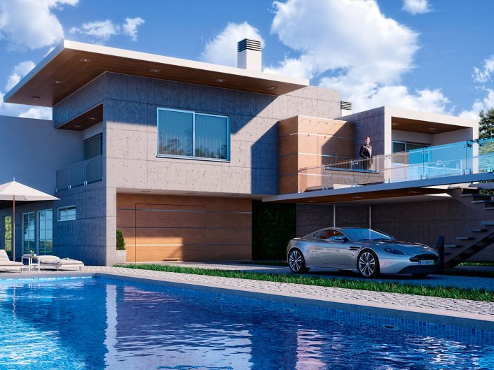 LIZ Residence – Concrete Wood House