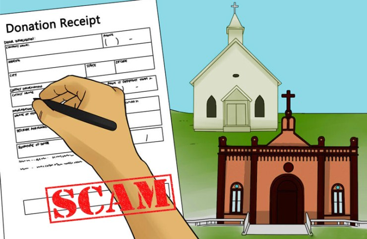 Image result for fraud in religious organisations in nigeria  BUSTED! Church Workers Of Living Faith Chapel Arrested For Stealing N38m From Church Purse donation receipt